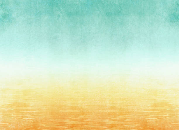 Summer background with abstract beach texture in watercolor style - vacation concept Retro summertime backdrop summer stock illustrations