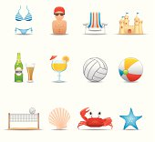 Elegant summer & beach icon can beautify your designs & graphic