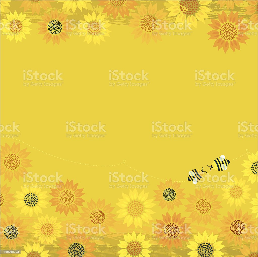 Summer Bees Background royalty-free stock vector art