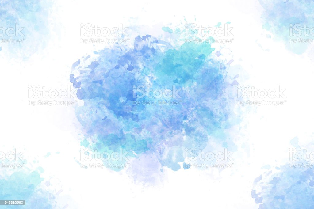 summer blue water splash abstract or watercolor paint background