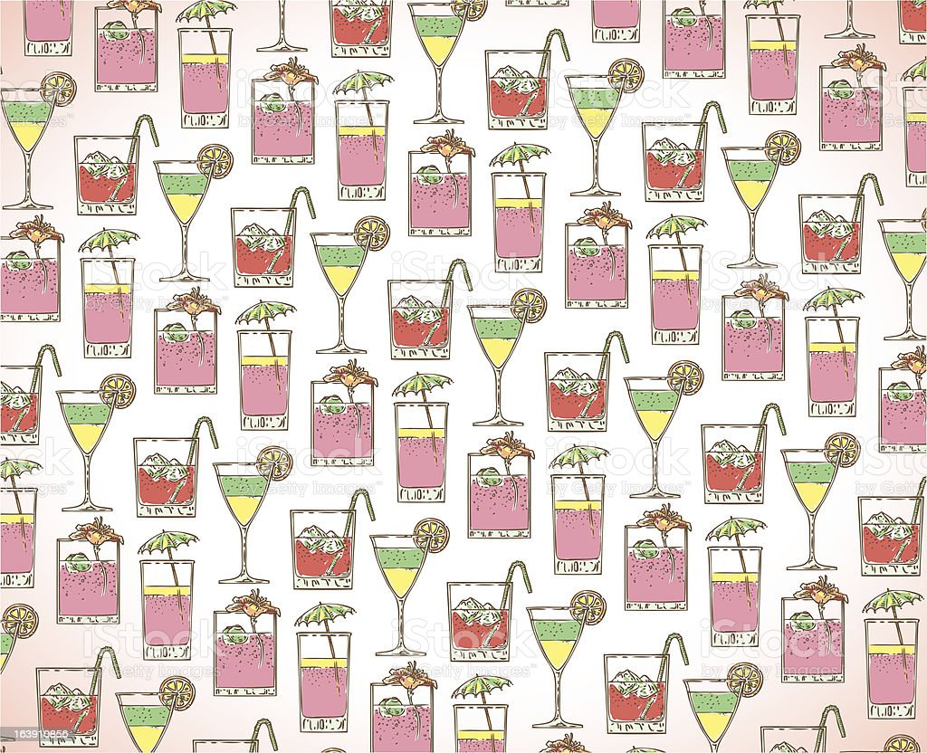 summer cocktail pattern royalty-free stock vector art