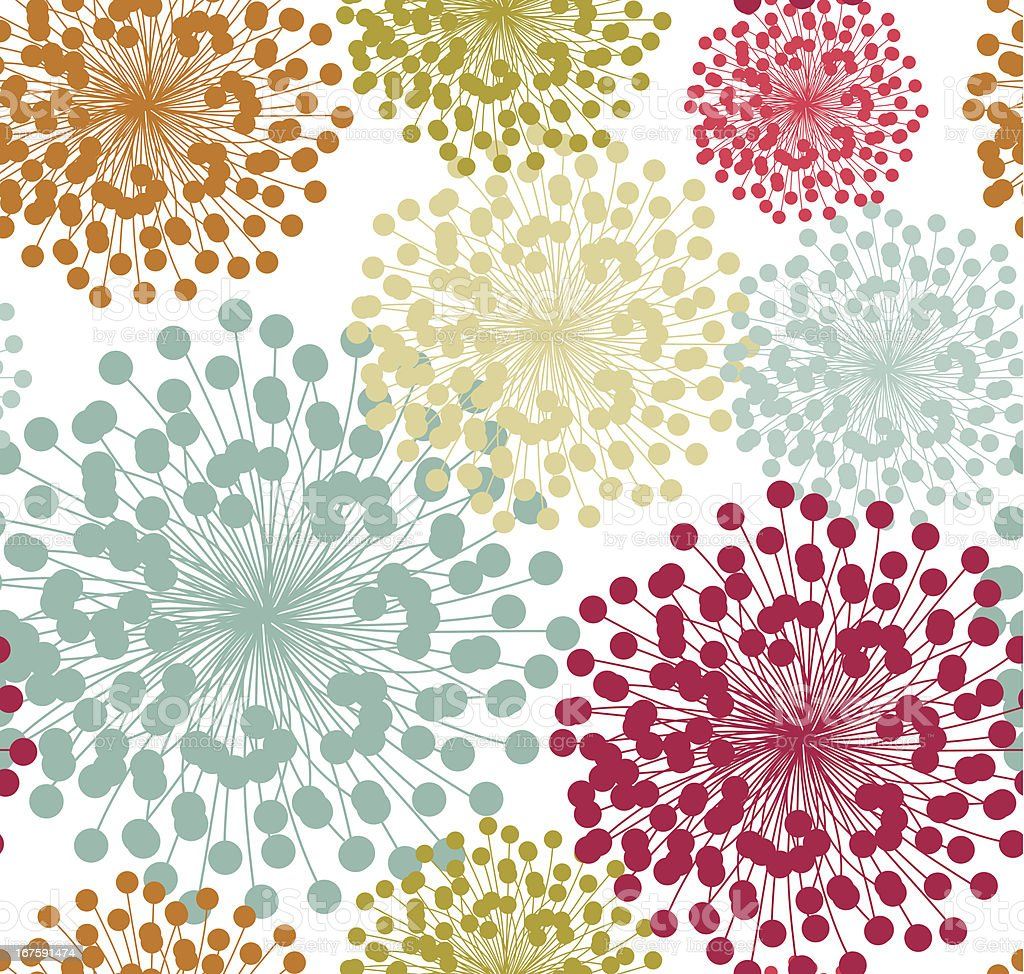 Summer floral pattern royalty-free stock vector art