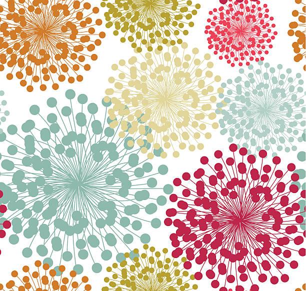 Summer floral pattern vector art illustration
