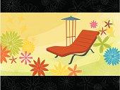 Summer Flower Chaise Lounge (Vector)