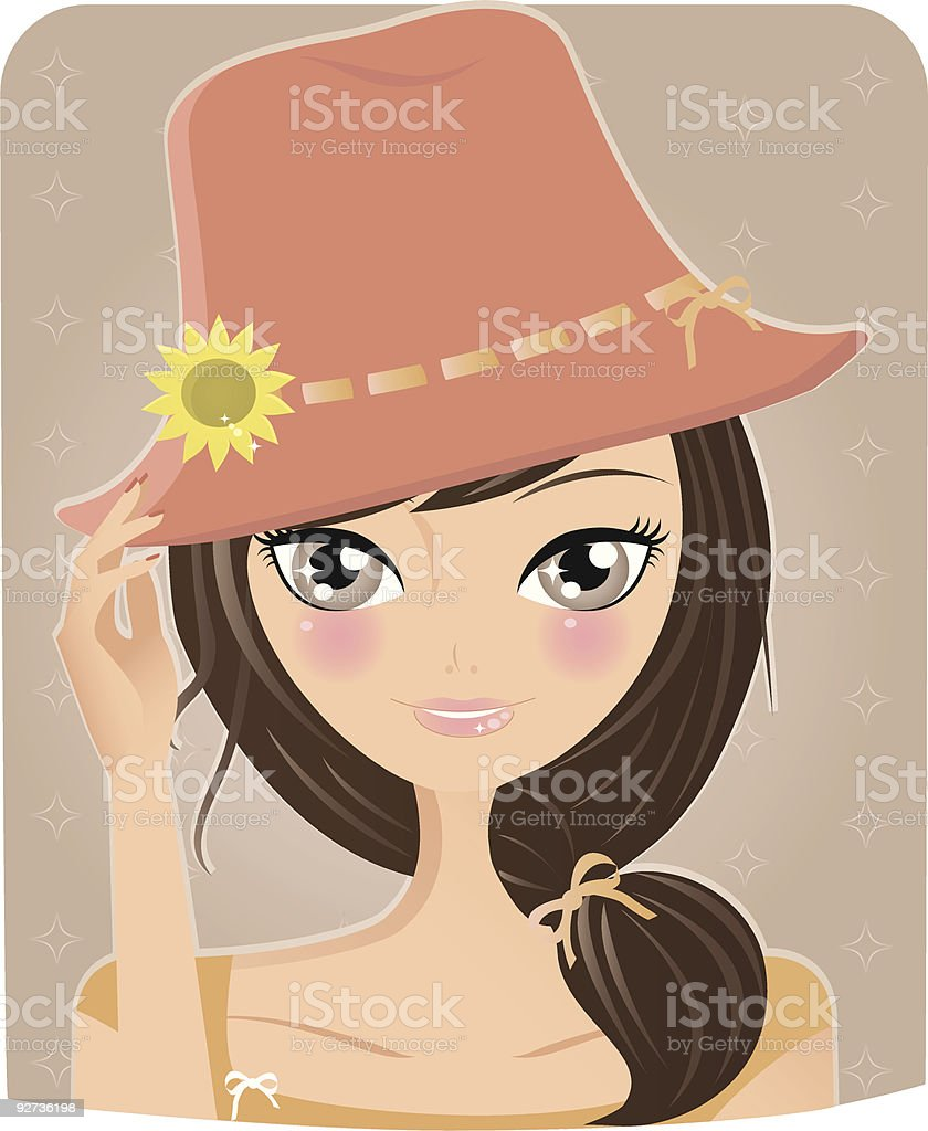 Summer girl - Royalty-free Adult stock vector