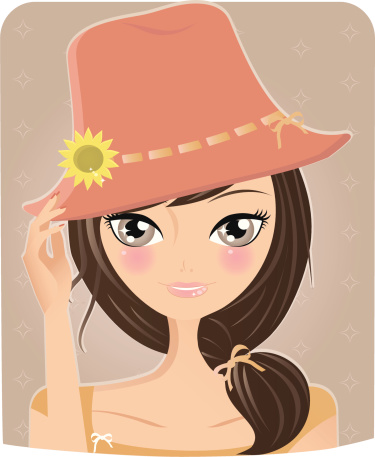 Summer Girl Stock Illustration - Download Image Now