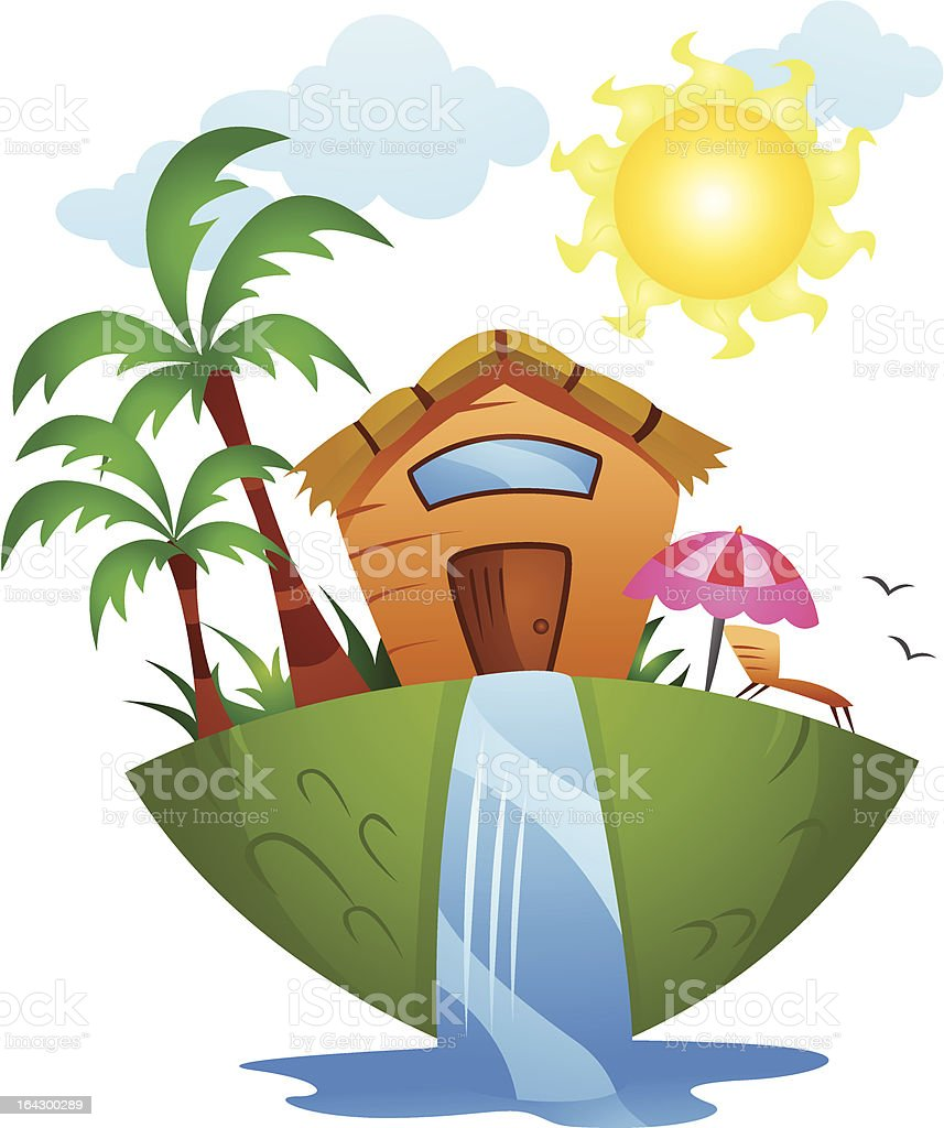 Summer House royalty-free stock vector art