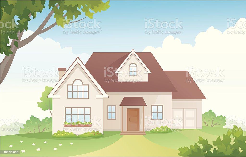 Summer house royalty-free stock vector art
