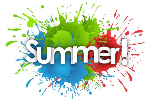 der Sommer – Vektorgrafik