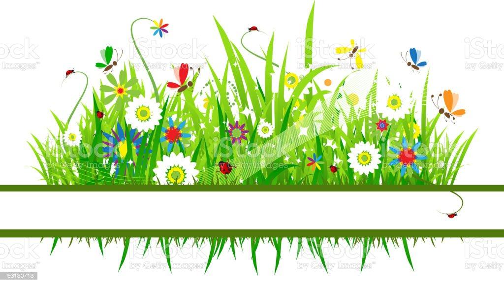 Summer meadow beautiful royalty-free stock vector art