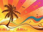 Summer musical background