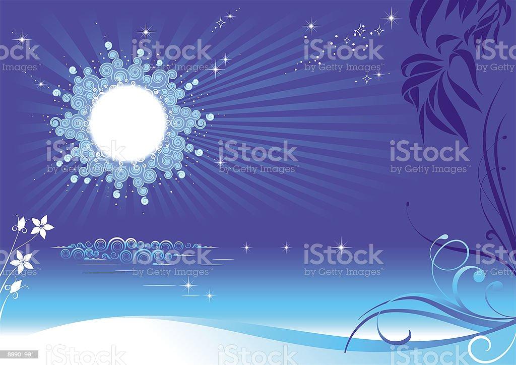 Summer night royalty-free stock vector art