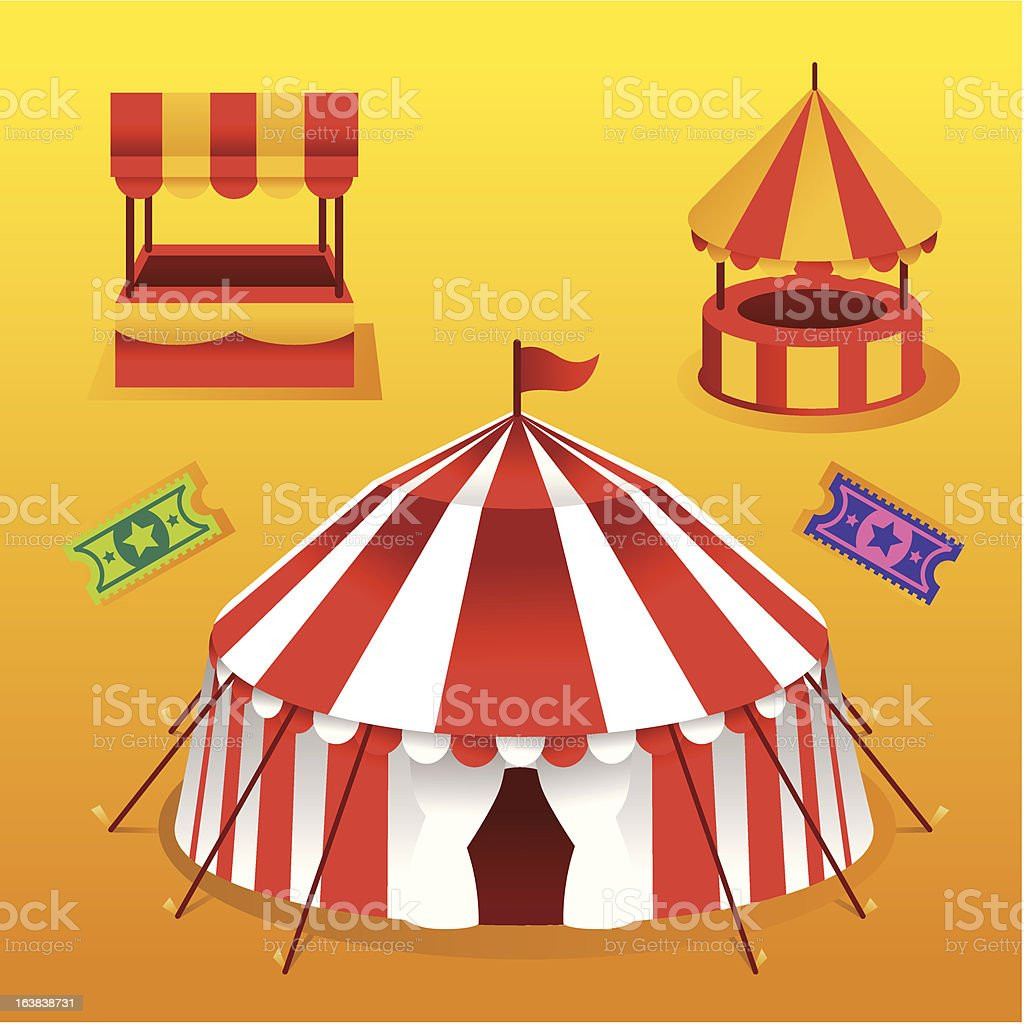 Summer Party Tents royalty-free stock vector art