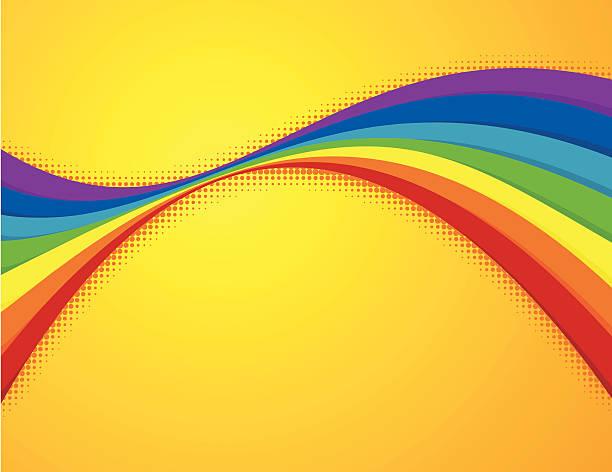 Summer rainbow vector art illustration