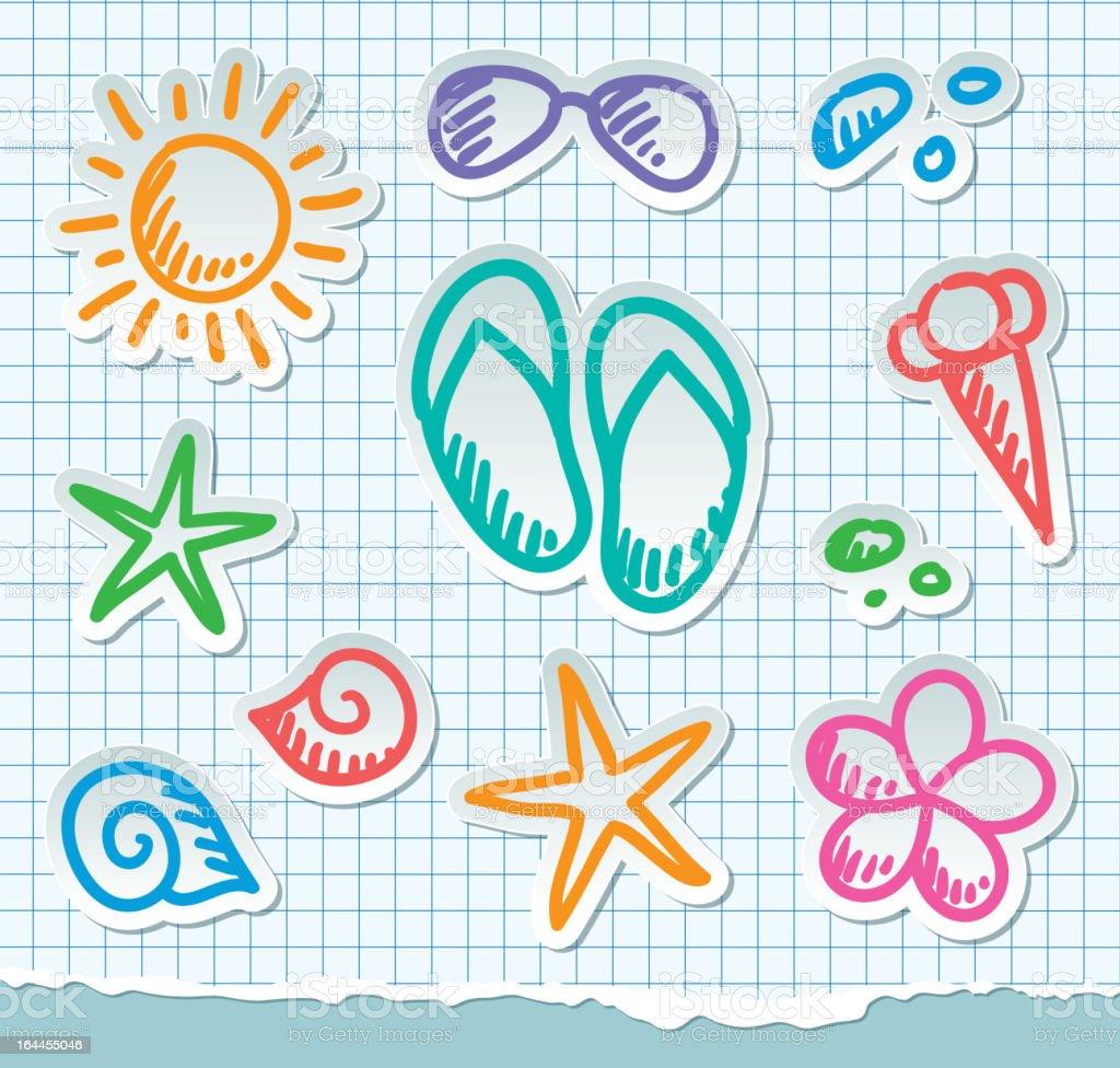 summer symbols, eps 10 royalty-free summer symbols eps 10 stock vector art & more images of