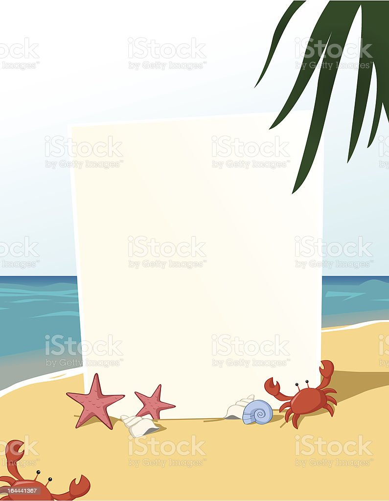 Summer theme vertical blank board royalty-free summer theme vertical blank board stock vector art & more images of animal