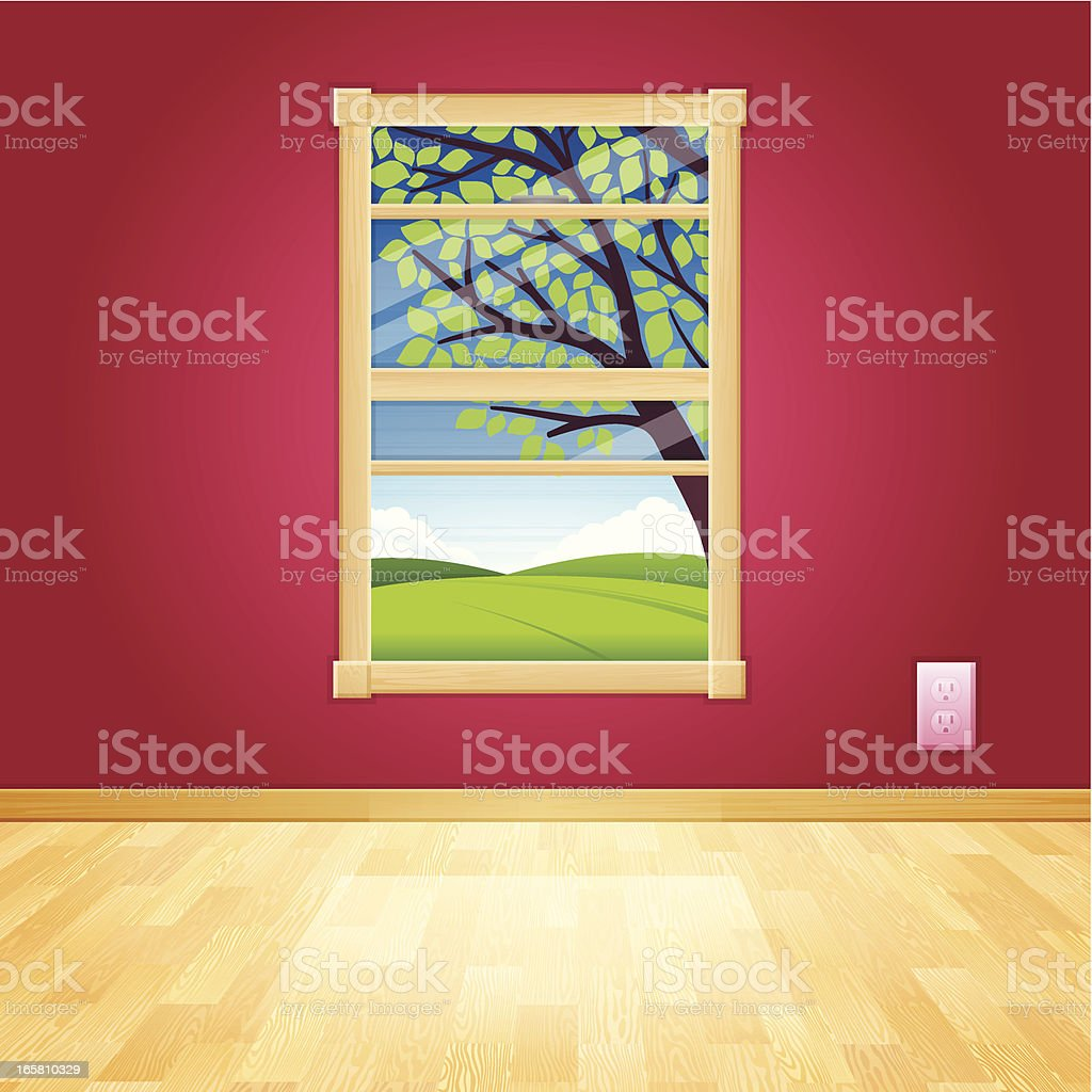 Summer Window royalty-free stock vector art