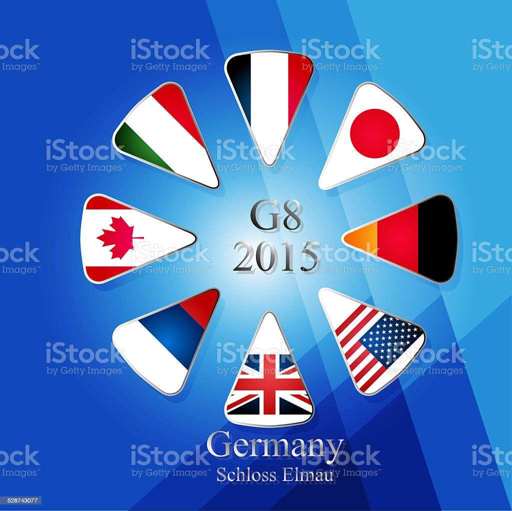 G8 summit infographic vector art illustration
