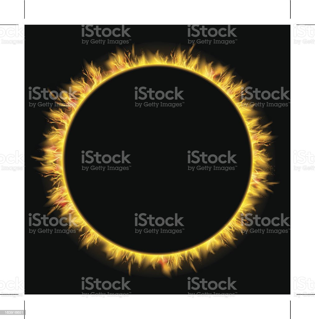 sun eclipse vector art illustration