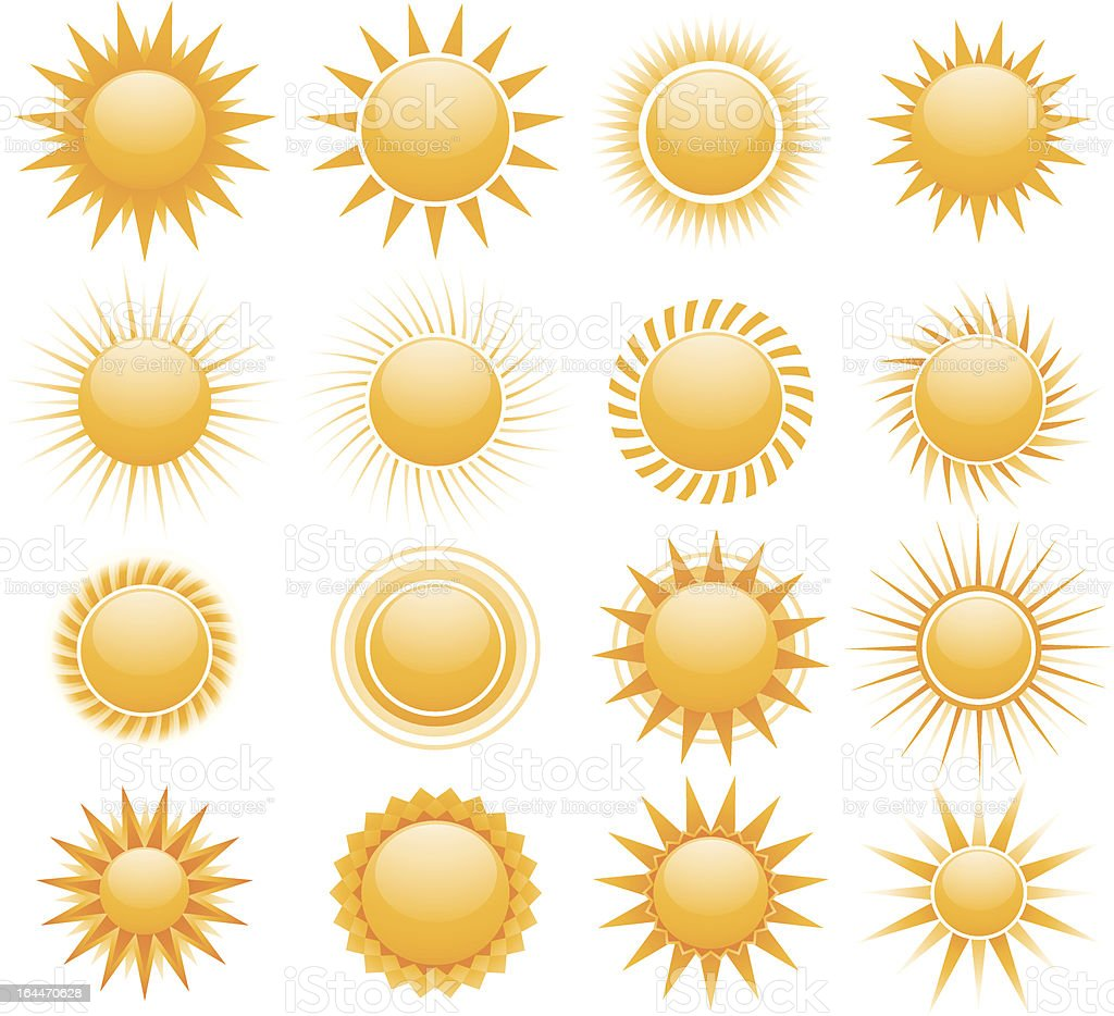 Sun icons royalty-free stock vector art