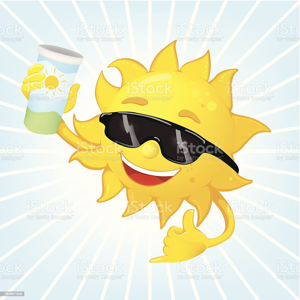 Sun in a sunglasses royalty-free stock vector art