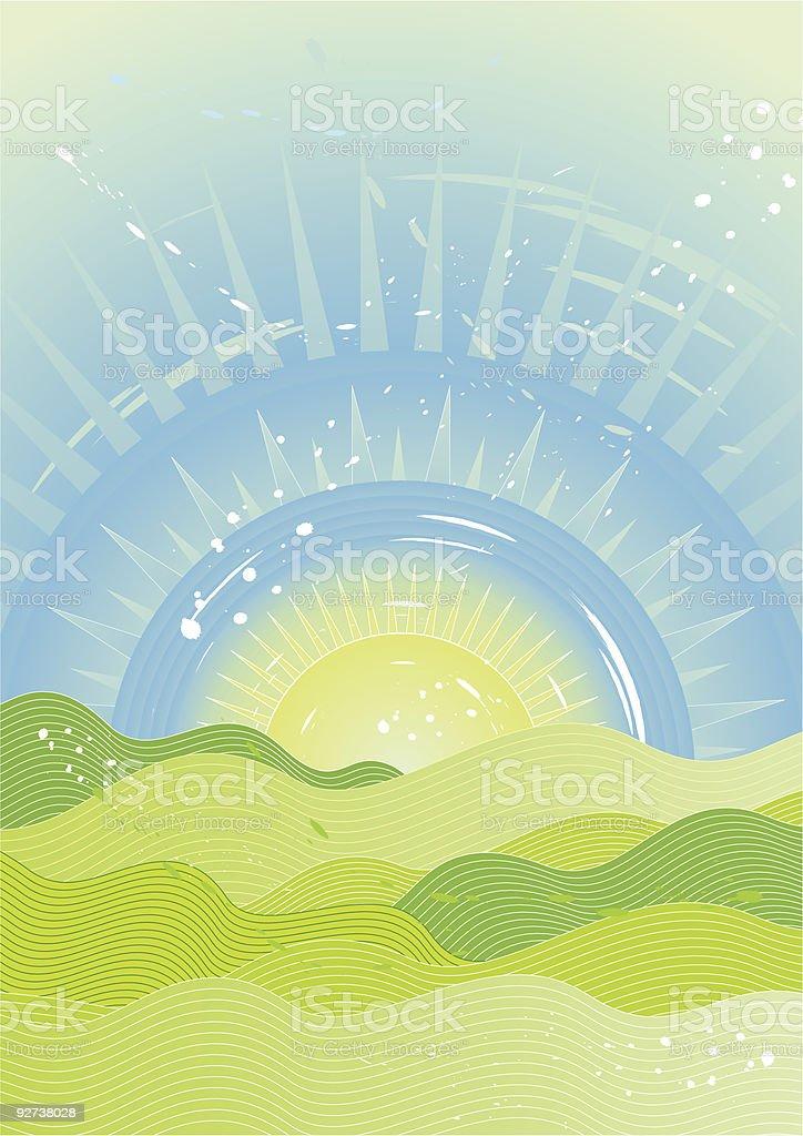 Sonne am Himmel Lizenzfreies sonne am himmel stock vektor art und mehr bilder von beleuchtet