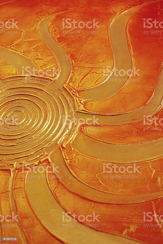 Sun painting royalty-free stock vector art