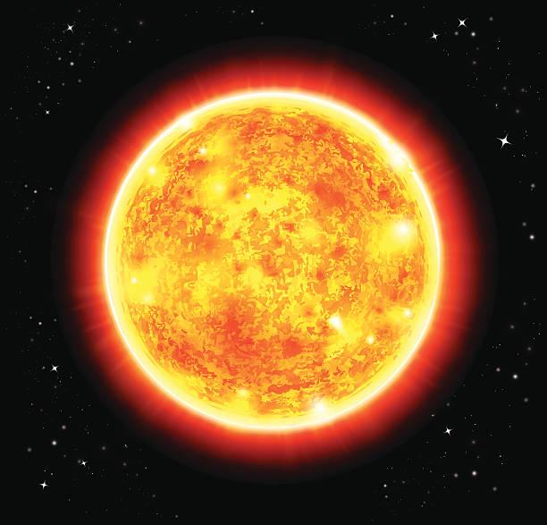 illustrazioni stock, clip art, cartoni animati e icone di tendenza di sole illustrazione vettoriale - flare