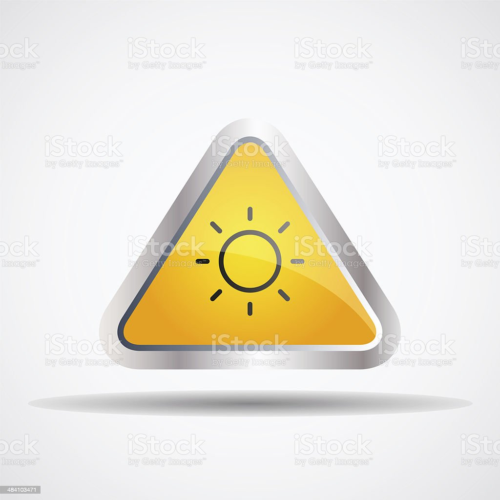 sun warning vector art illustration