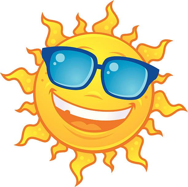 Sun Wearing Sunglasses vector art illustration
