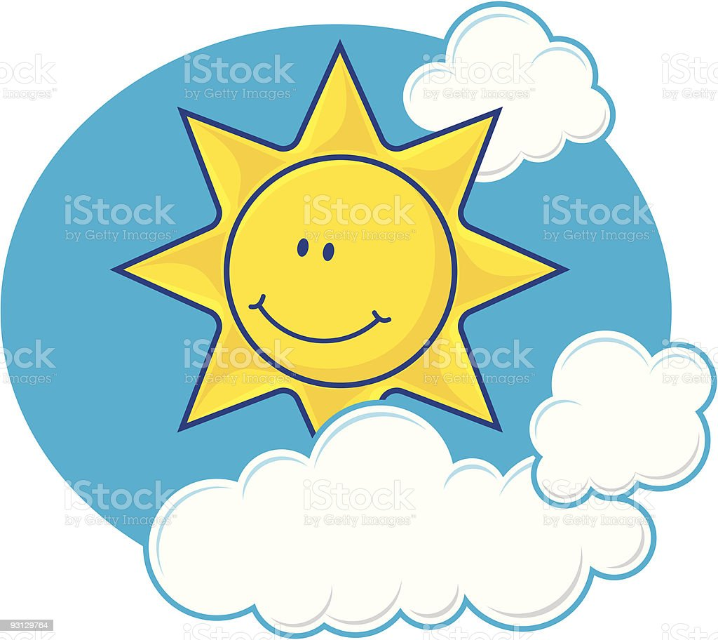 Sun with clouds royalty-free sun with clouds stock vector art & more images of blue