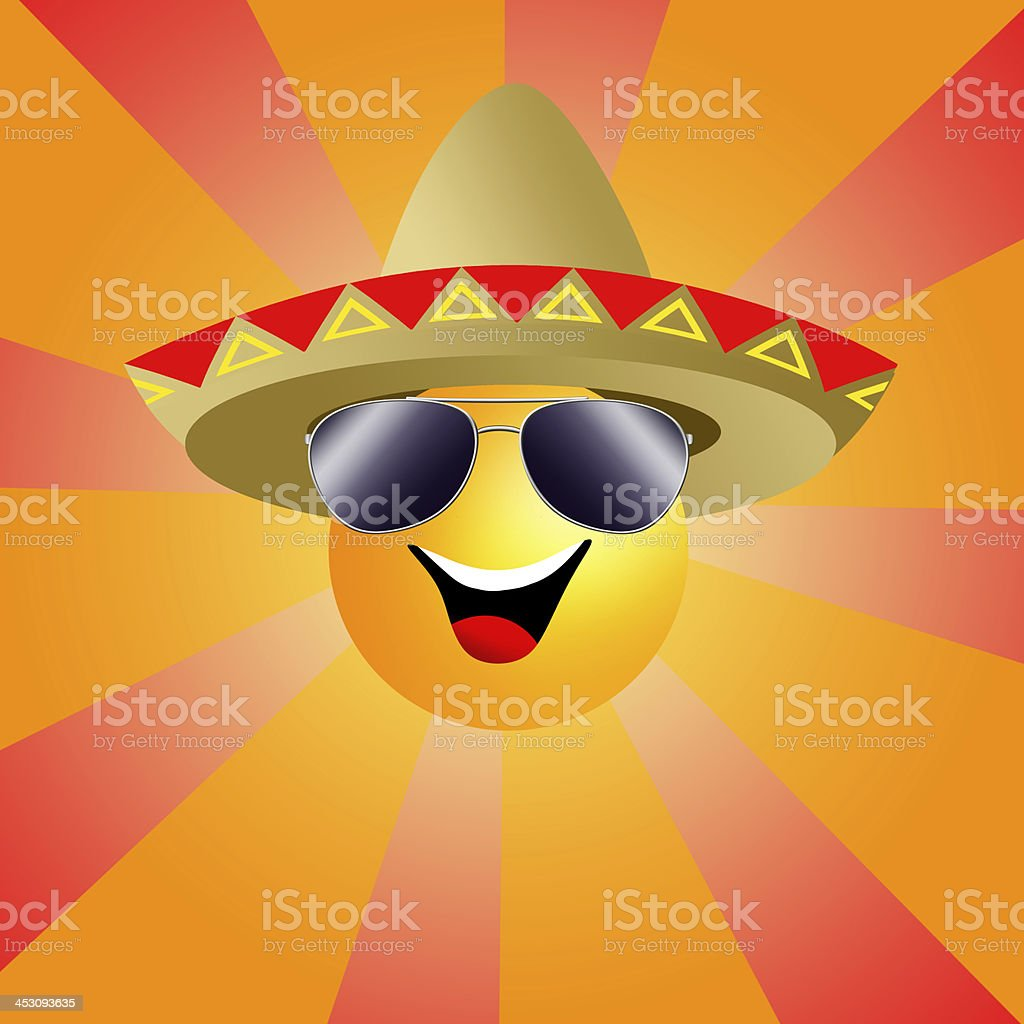 Sun with sombrero royalty-free sun with sombrero stock vector art & more images of beach