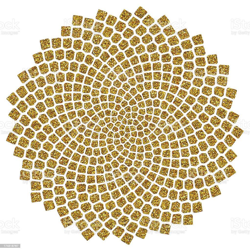 Semillas de girasol, Golden relación, Fibonacci, Phi - ilustración de arte vectorial