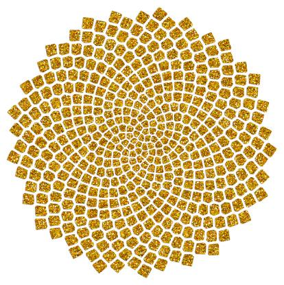 Подсолнечных Семян Золотой Отношение Fibonacci Пхи — стоковая векторная графика и другие изображения на тему Pythagoras