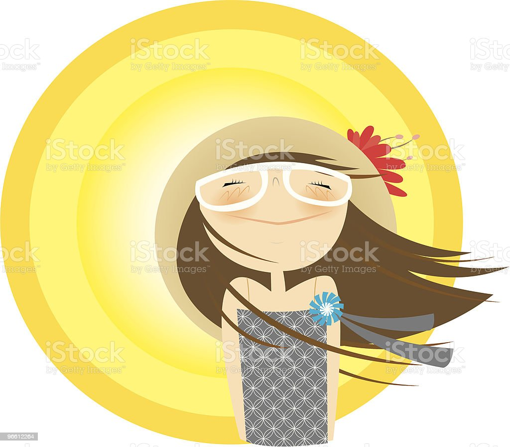 sunny gal - Royalty-free Casual Clothing stock vector