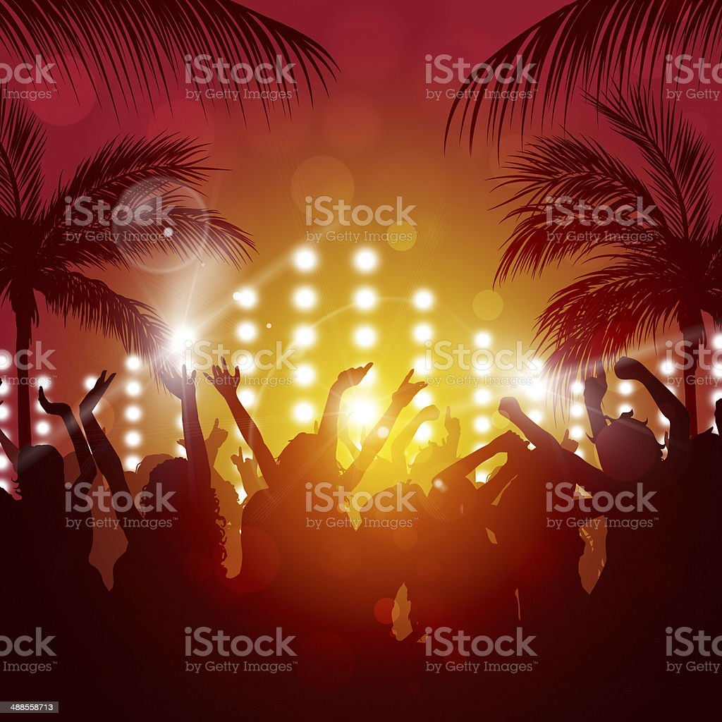 Sunny Party Outdoor vector art illustration
