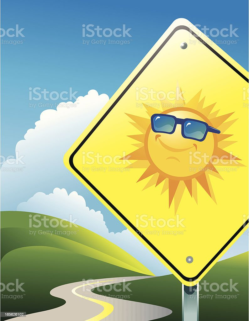 Sunny road ahead royalty-free sunny road ahead stock vector art & more images of anthropomorphic smiley face