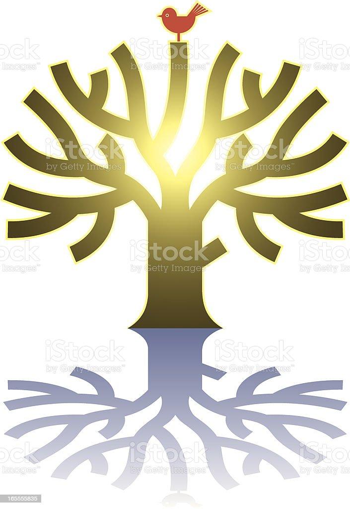 Sunny tree royalty-free stock vector art