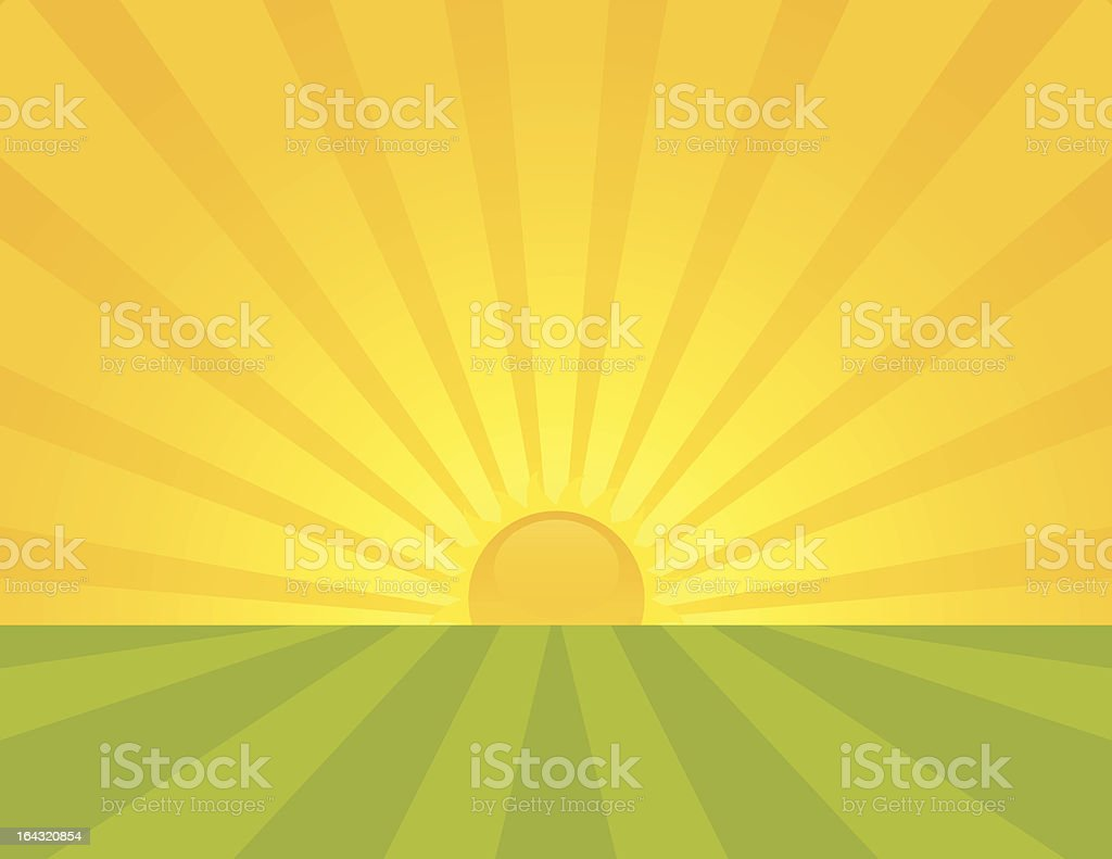 Sunrise royalty-free stock vector art