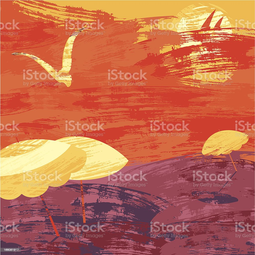 Sunset Beach royalty-free sunset beach stock vector art & more images of abstract