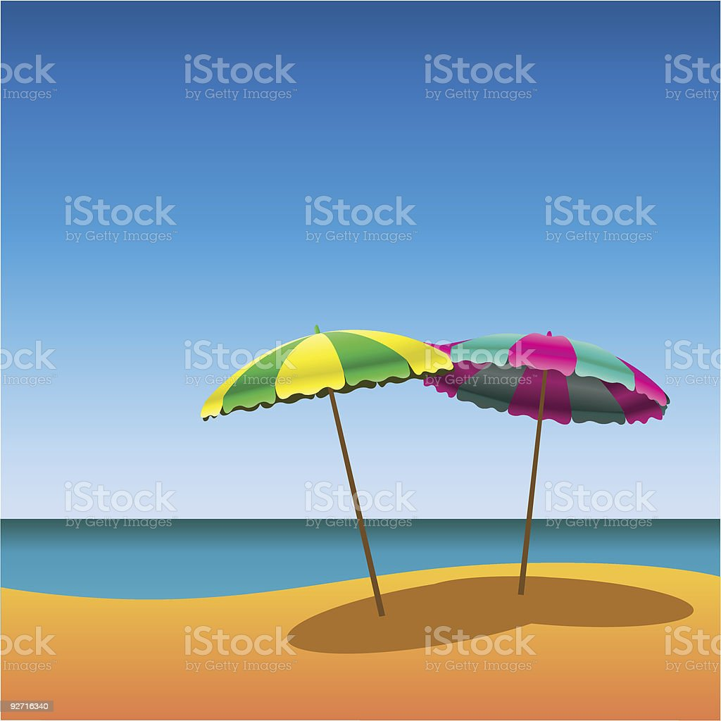 Sunshades royalty-free stock vector art