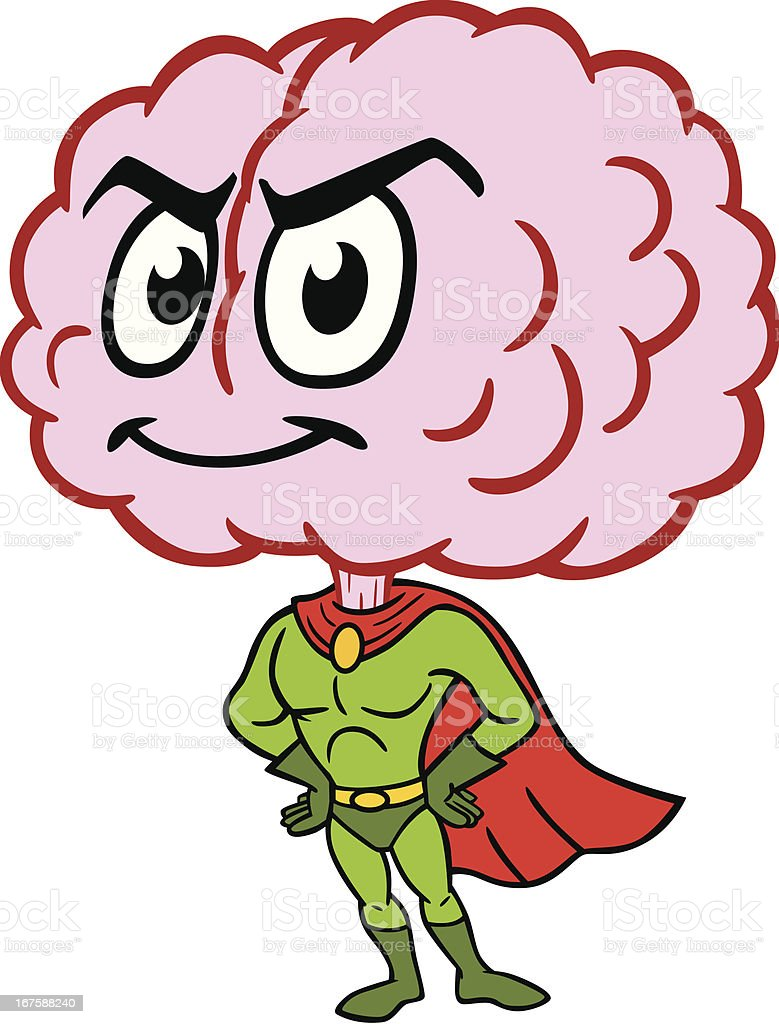 super brain stock vector art amp more images of cartoon