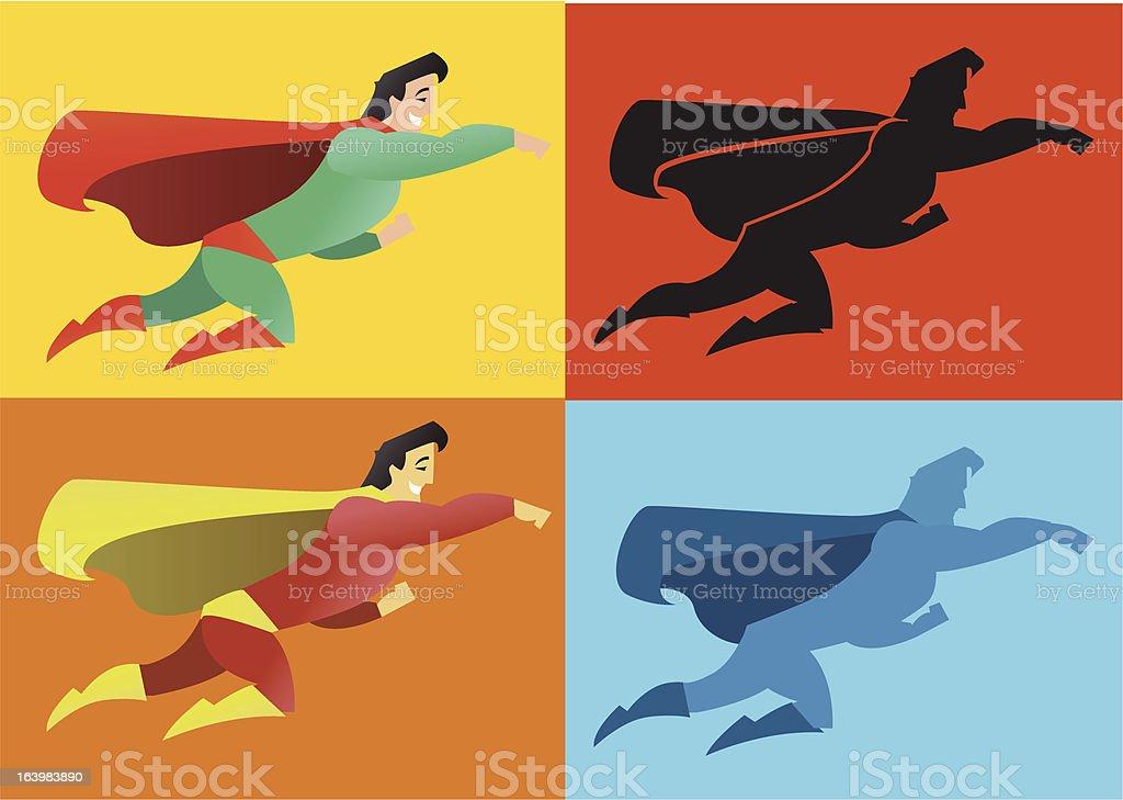Silhouette Super eroe - illustrazione arte vettoriale