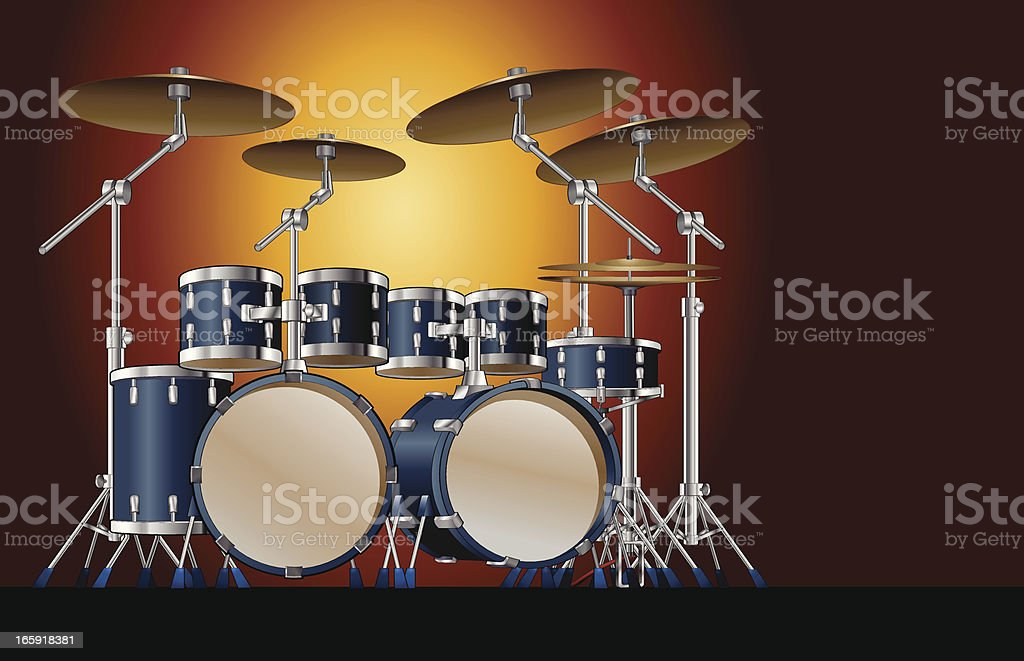 Super star drums royalty-free stock vector art
