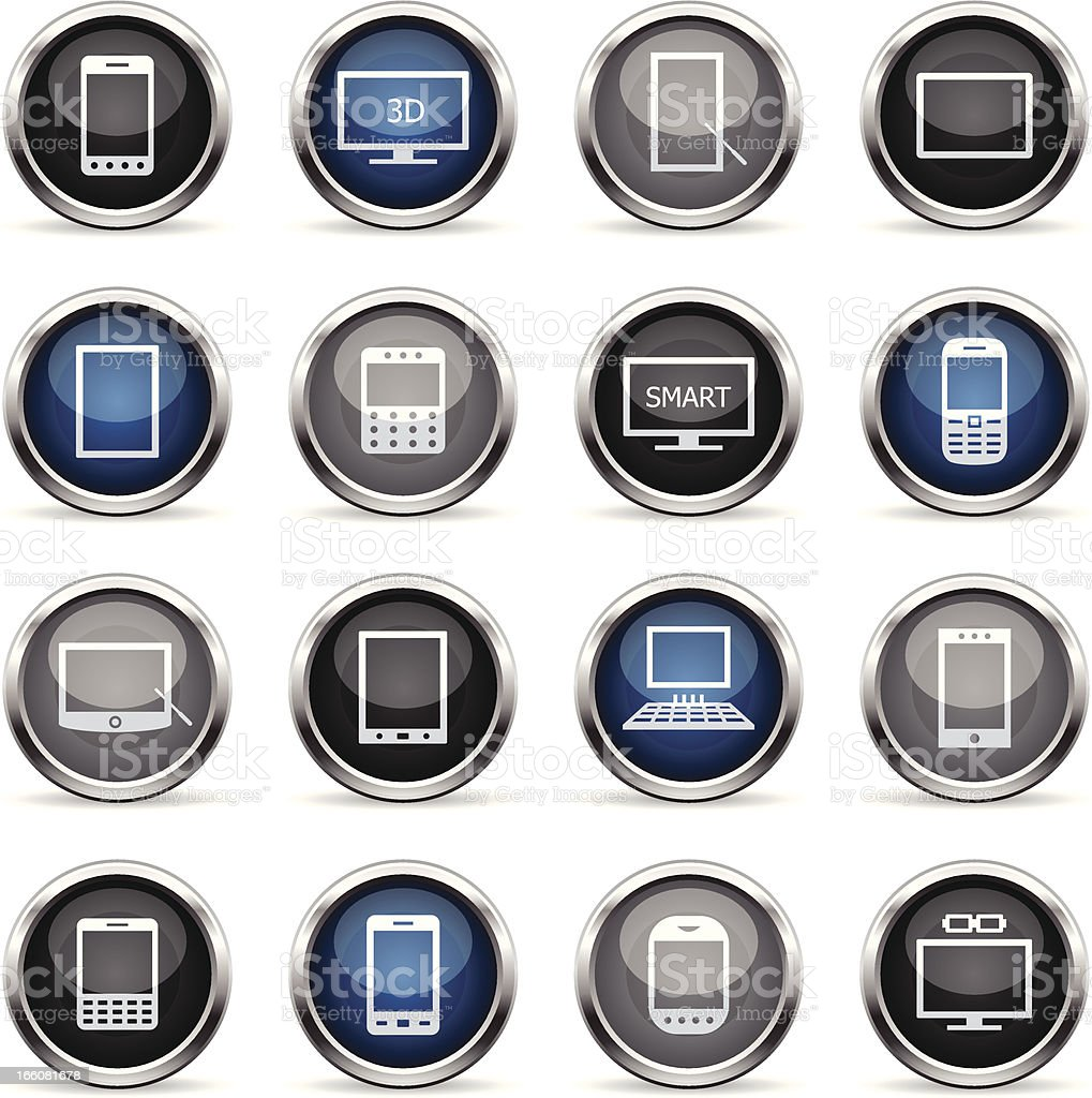 Supergloss Icons - Smart Devices royalty-free stock vector art