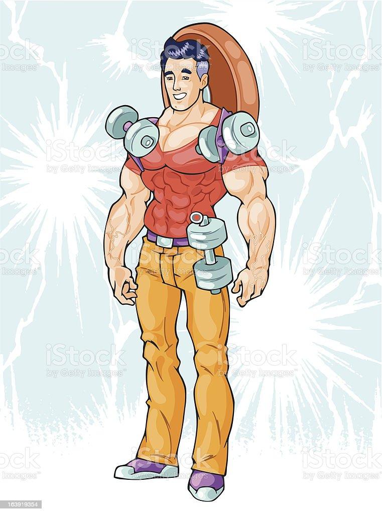 superhero man royalty-free stock vector art