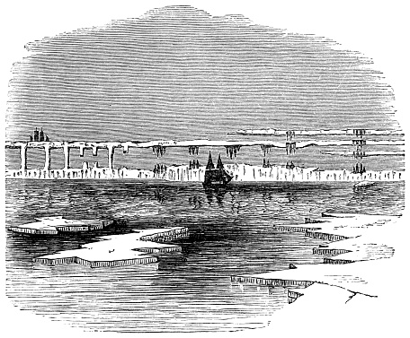 Superior Mirage in the Canadian Arctic - 19th Century