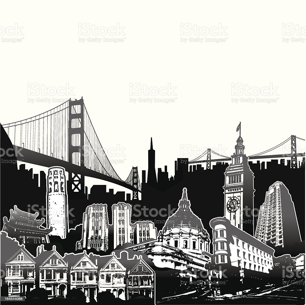 SF Superscene royalty-free sf superscene stock vector art & more images of architecture