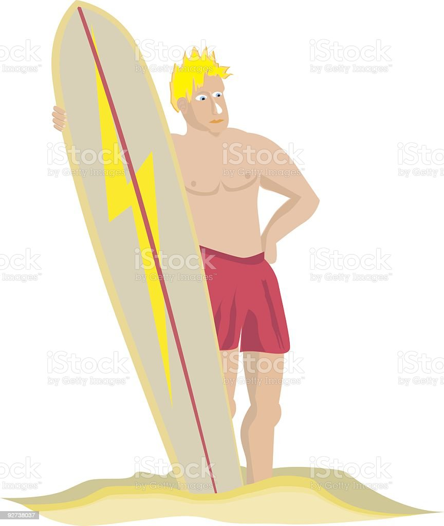 Surfer Dude royalty-free stock vector art