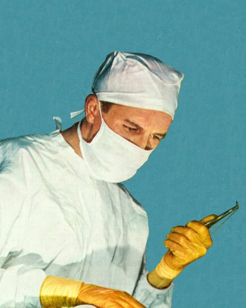 ilustraciones, imágenes clip art, dibujos animados e iconos de stock de cirujano - cirujano